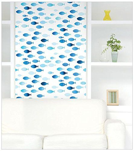 Peel Stick Blue Fish Contact Paper Selfadhesive Removable Wallpaper Dps86 164 Feet X 820 Feet Read Mor Kids Room Wall Decor Wallpaper Shelves Diy Molding