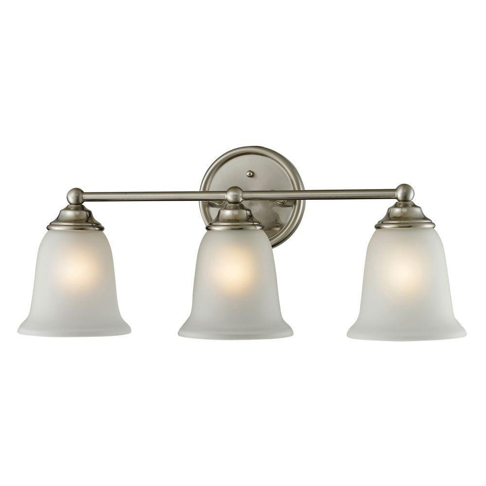 Titan lighting sudbury light brushed nickel wall mount bath bar