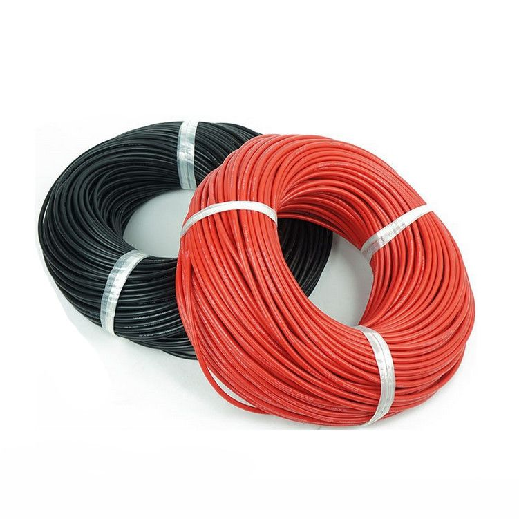 1 meter Rot + 1 meter Schwarz Silicon 12awg 14AWG 16AWG 22AWG AWG ...