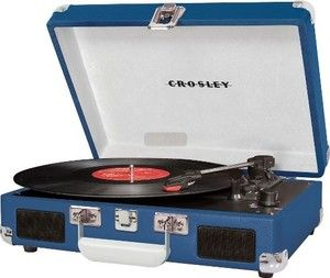 Crosley CR8005A BL Cruiser 3 Speed Portable Turntable Record Player Blue Vinyl | eBay