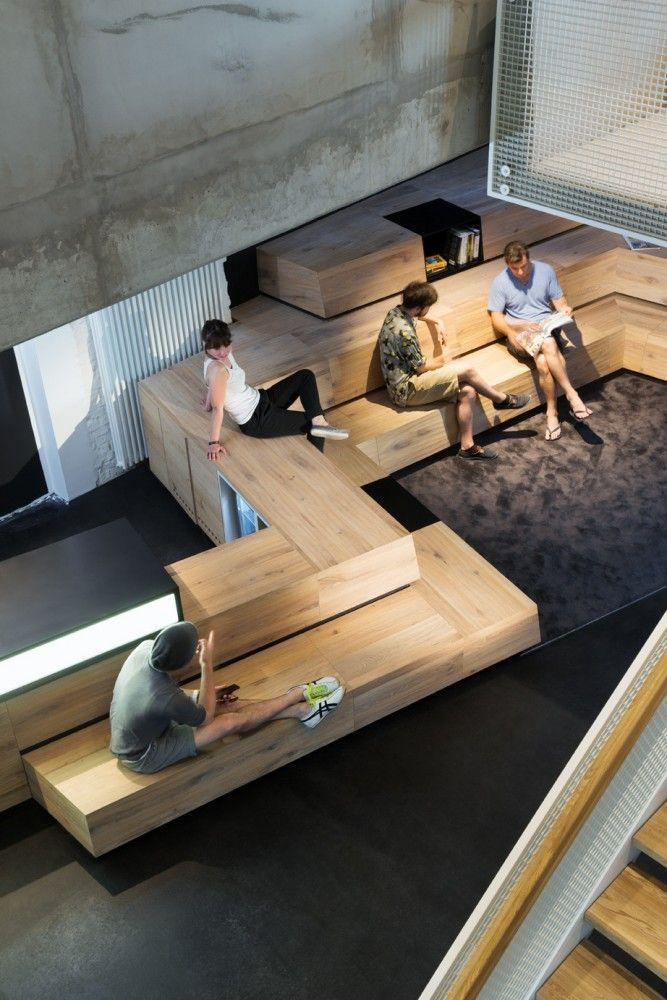 Great Version Of The Stadium Seating Concept #workspace #office #decor:  Interior Design