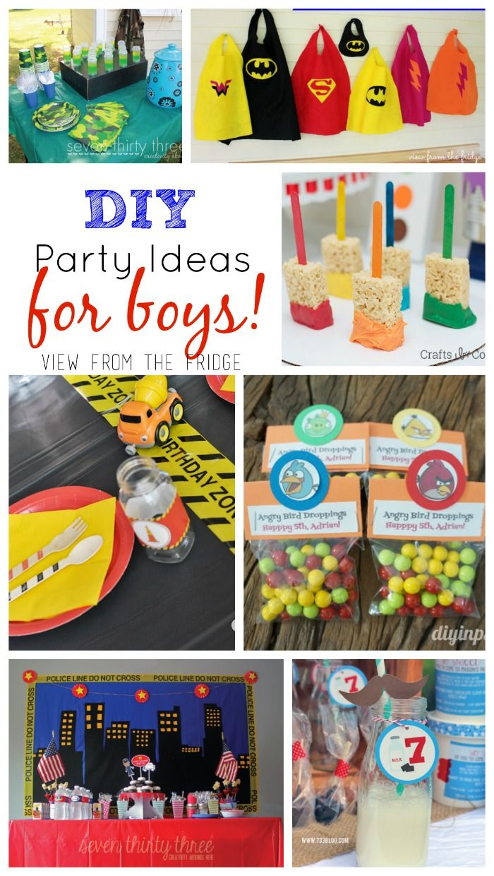A Roundup Of Some Adorable And Creative Ideas For Boys Birthday Parties Via View From The Fridge