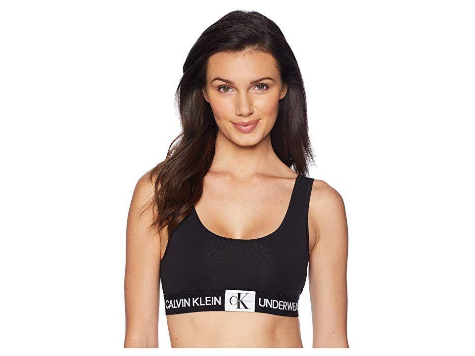 bc818549b9 Calvin Klein Underwear Monogram Unlined Bralette (Black) Women s Bra. Calvin  Klein Underwear scoop