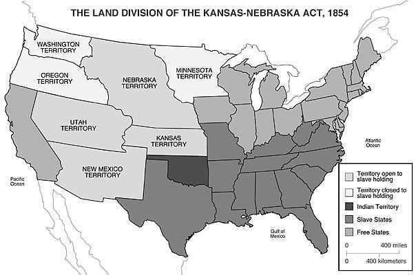 Land division of the Kansas-Nebraska Act of 1854. | Maps ...