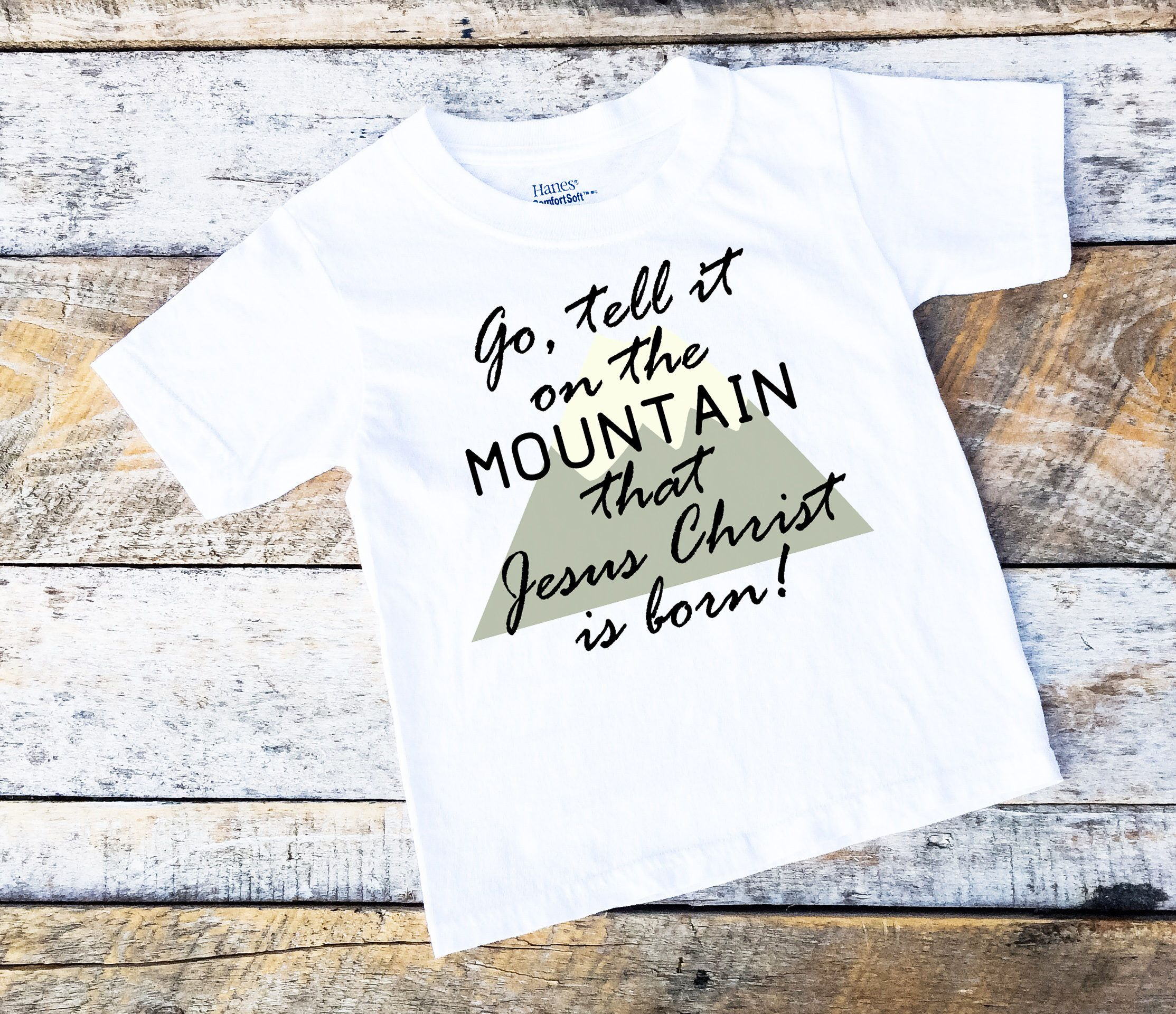 Christmas Onesies® For Boys, Go Tell it on the Mountain Onesie ...