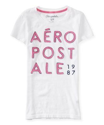 79be3be4298bc Camiseta Aeropostale com gola canoa. Possui bordado e aplique super  detalhado.Tecido 100% algodão. Produto original. Carregando zoom.