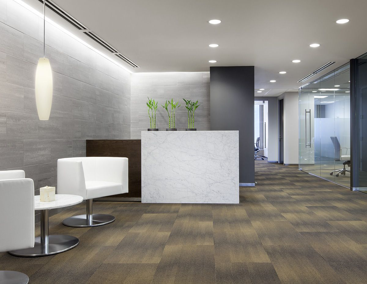Main reception area design by mercedes farrando beacon for Office area design