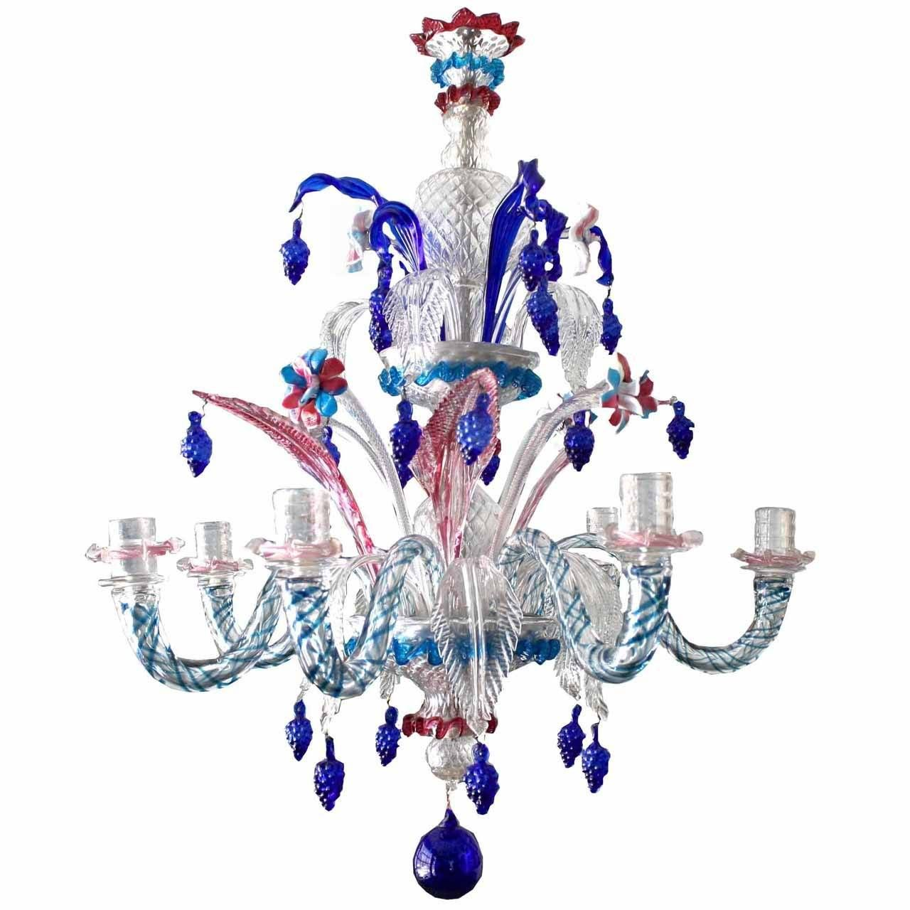 19th century murano glass harlequin chandelier murano glass 19th century murano glass harlequin chandelier 1stdibs mozeypictures Gallery