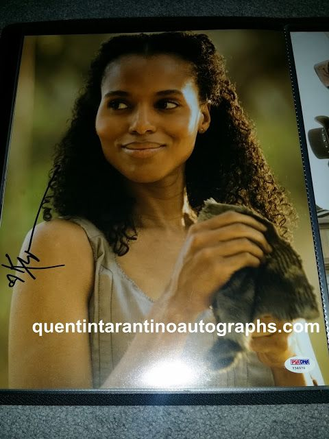 My Quentin Tarantino Autograph Collection: Kerry Washington of Django Unchained! Autographs! ...