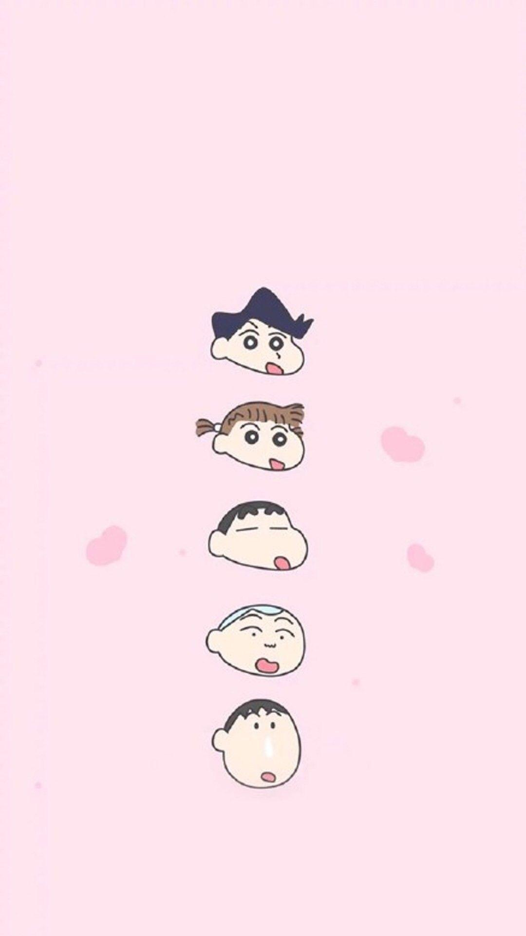 1080x1920 Crayon Shin Chan Iphone Backgrounds Iphone Wallpapers Kawaii Pastel Display Cak Cute Cartoon Wallpapers Shin Chan Wallpapers Cartoon Wallpaper