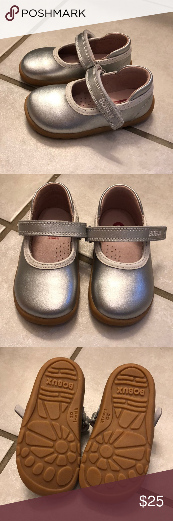 Bobux size 20 EU silver I-walk toddler shoe Never worn ...