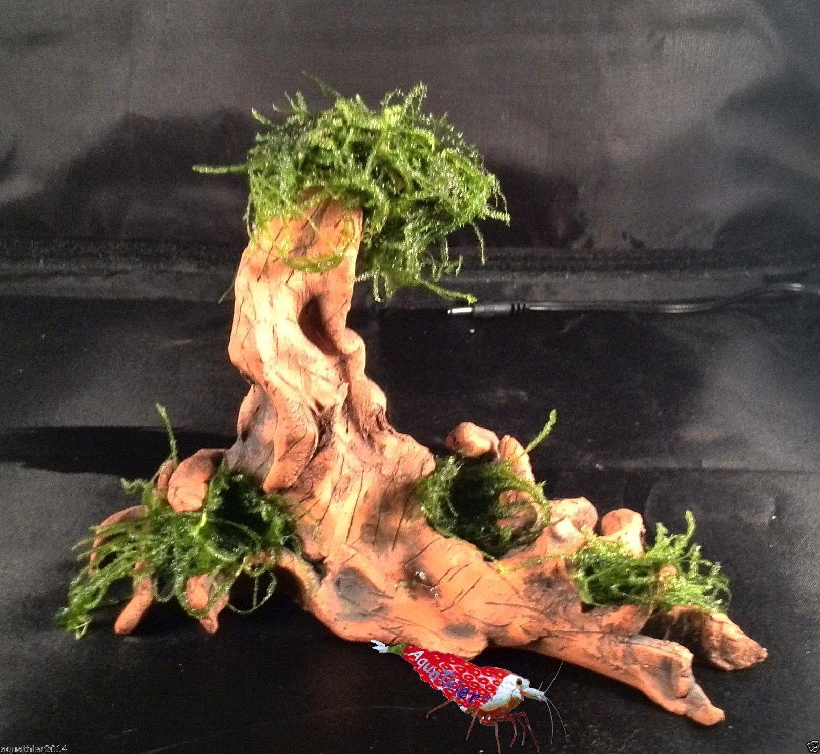 Garnelen Baum Wurzel Versteck Hohle Ton Aquarium Dekoration Nano Aquarium Aquarium Painting