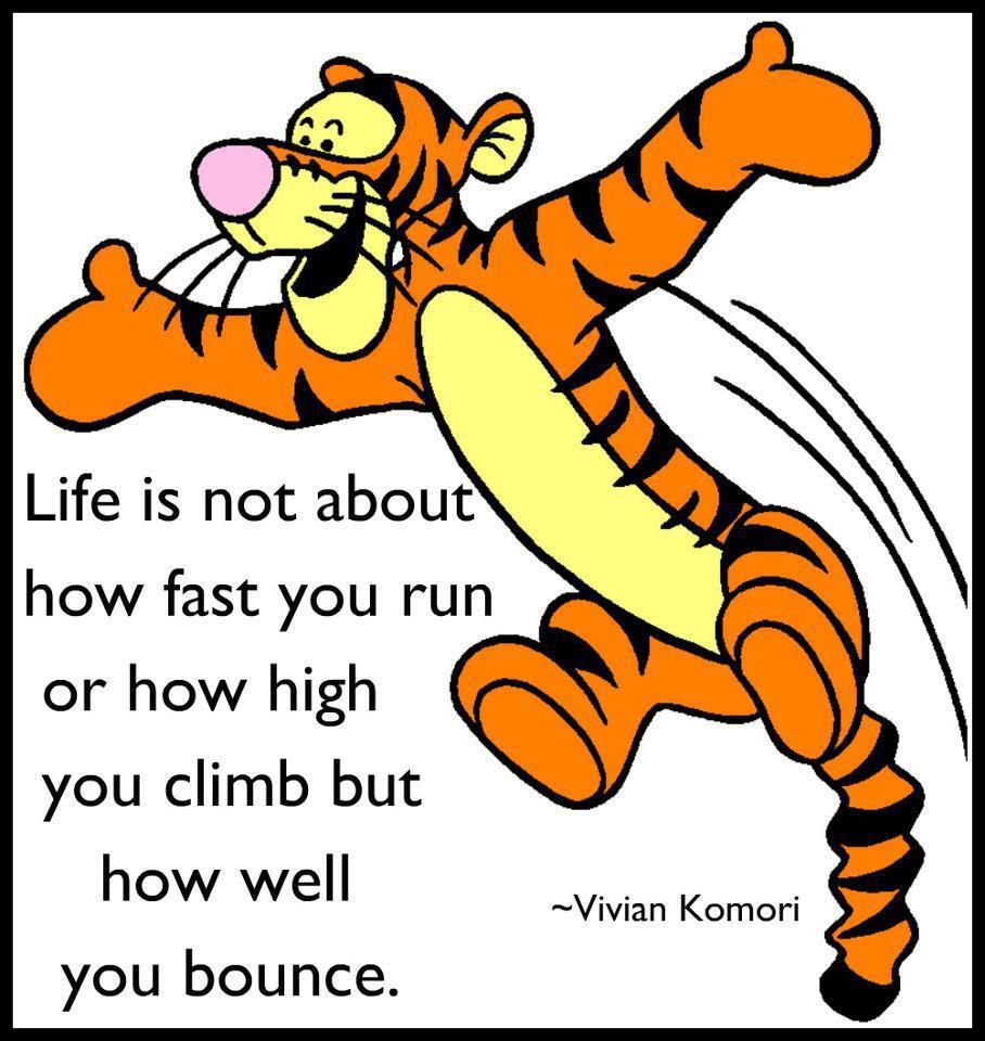 Image result for tigger it's not about how you fall