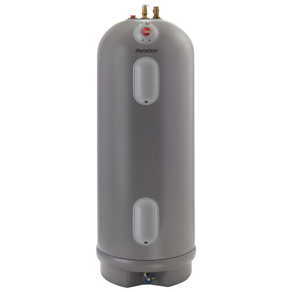 Rheem Marathon 40 Gal Tall 4500 4500 Watt Elements Non Metallic Lifetime Electric Tank Water Heater Water Heating Polyurethane Insulation Stainless Steel Tanks