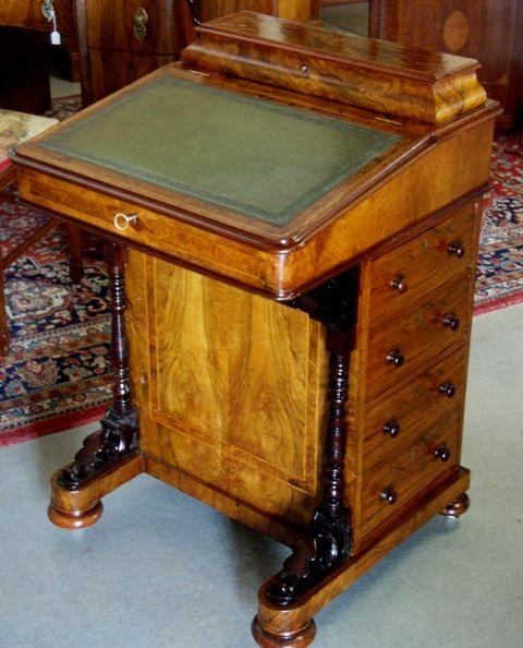 Restored Davenport Desk Unusual Furniture Antique Desk Refurbished Furniture