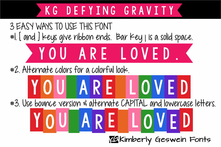 KG Defying Gravity font by Kimberly Geswein - FontSpace . So excited about this one.  #fontlovin
