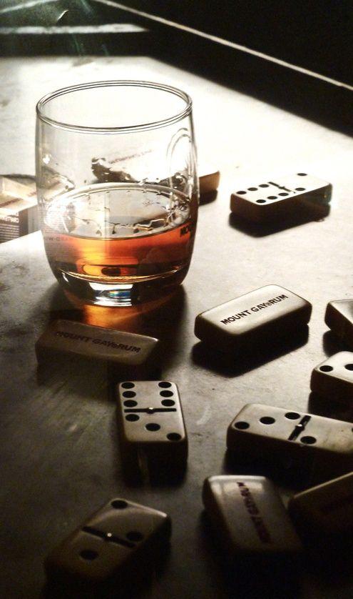dominoes X Mount Gay barbadian rum