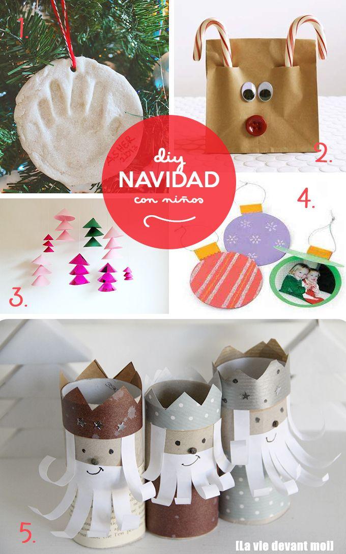Diy navide os para hacer con ni os navidad pinterest - Manualidades ninos navidad ...