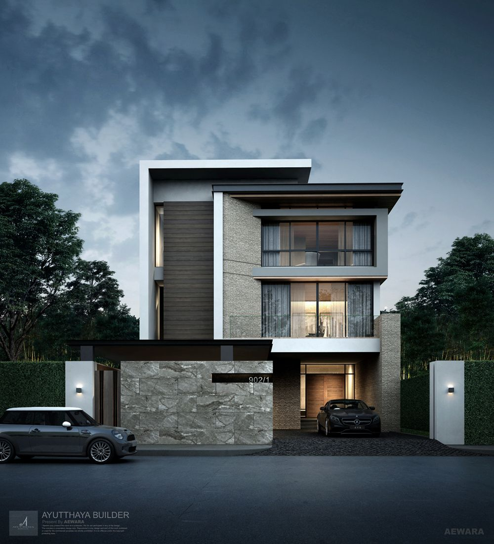 3d Perspective Aewara Exterior 128 Vila Pinterest Fachadas