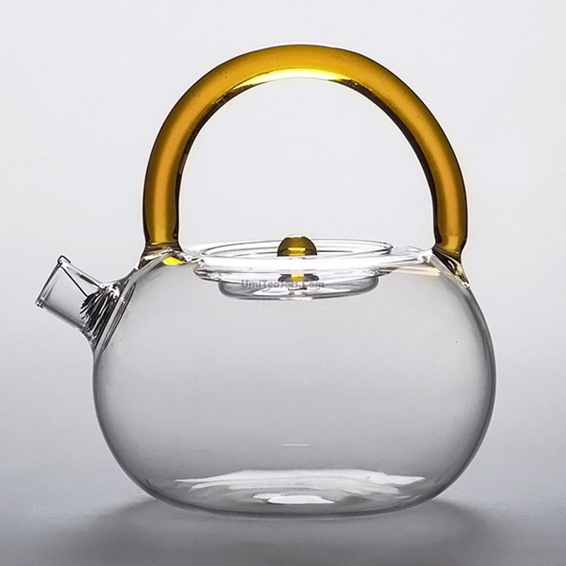 Collectible Curtis Cooking Utensils Glass Teapot