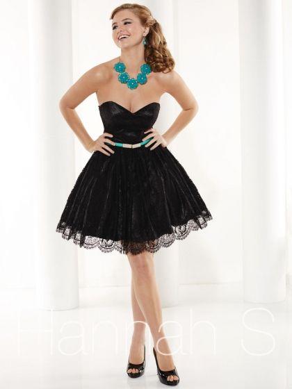 Hannah S 27923 Lace Short Party Dress - French Novelty | LINGUAGEM ...