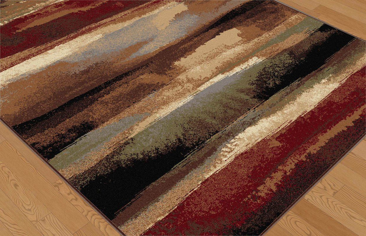 Hartle Abstract Brown Beige Area Rug Area Rugs Rugs Red Area Rug