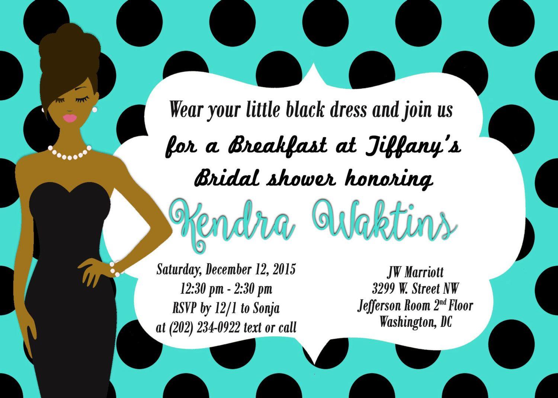 Bridal shower invitation, Breakfast at Tiffany\'s party invitation ...