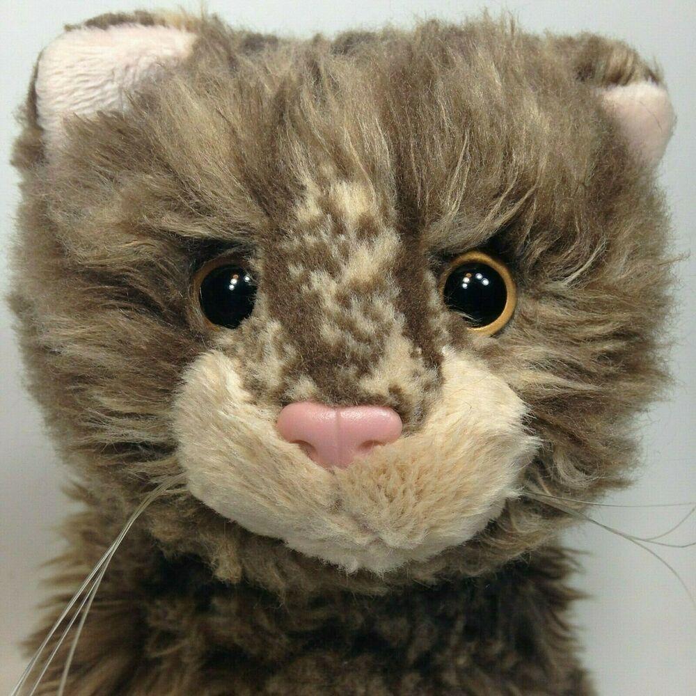 Russ Berrie Sierra Plush Cat Striped Tabby 22 Rare Shaggy Floppy