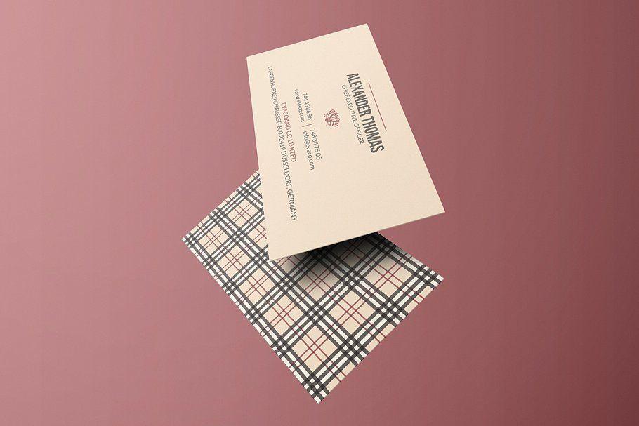 Burberry business card