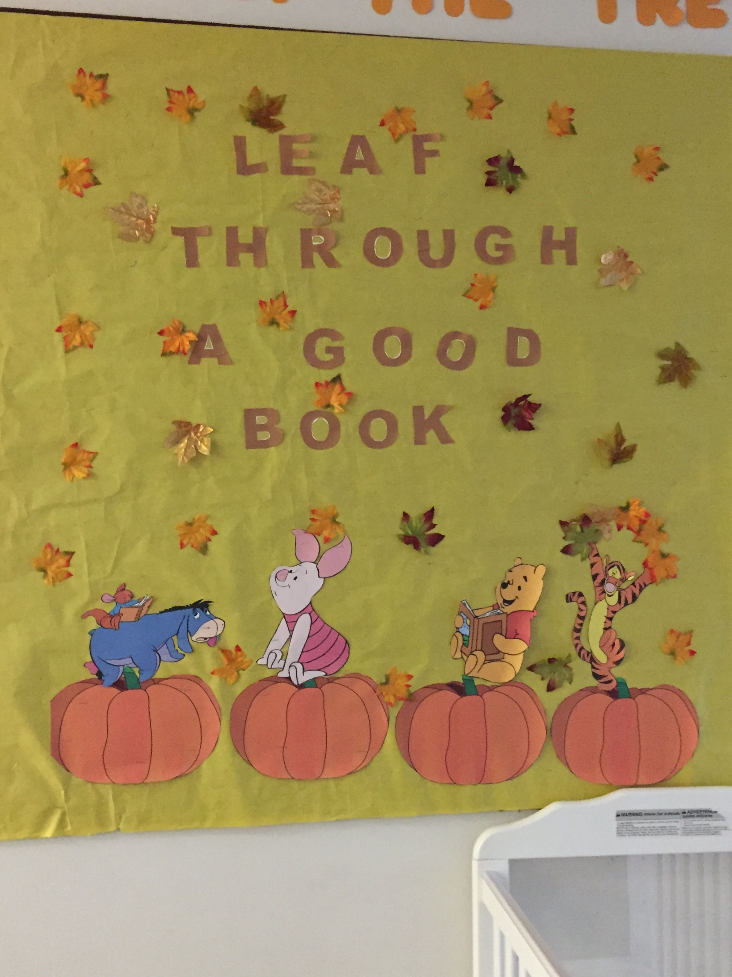 Winnie The Pooh Lead Through A Good Book Bulletin Board