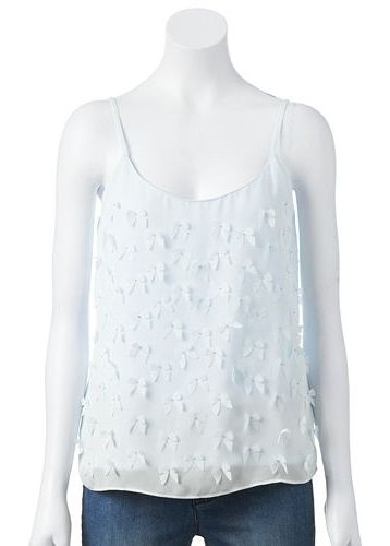 Disney's Cinderella a Collection by LC Lauren Conrad Bow Applique Camisole at Kohl's