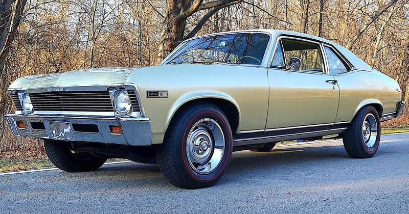 1968 Chevy II Nova with 396 V8 – Ash Gold and Palomino Ivory