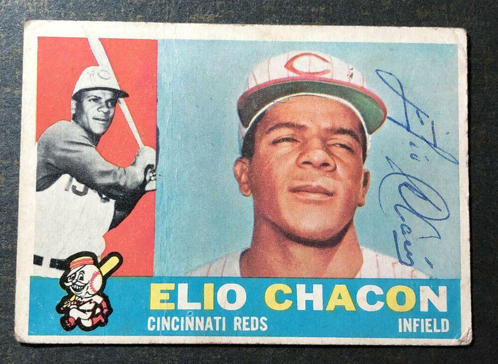 1960 topps elio chacon signed baseball card 543