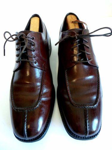 Cole Haan City Men Black Leather Oxfords Lace Heel Plain Toe Formal Shoes  12 M