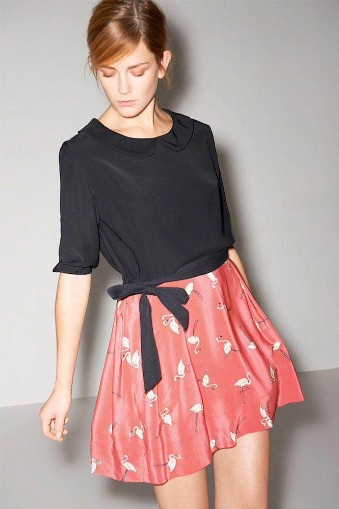 Robe sandro flamants rose