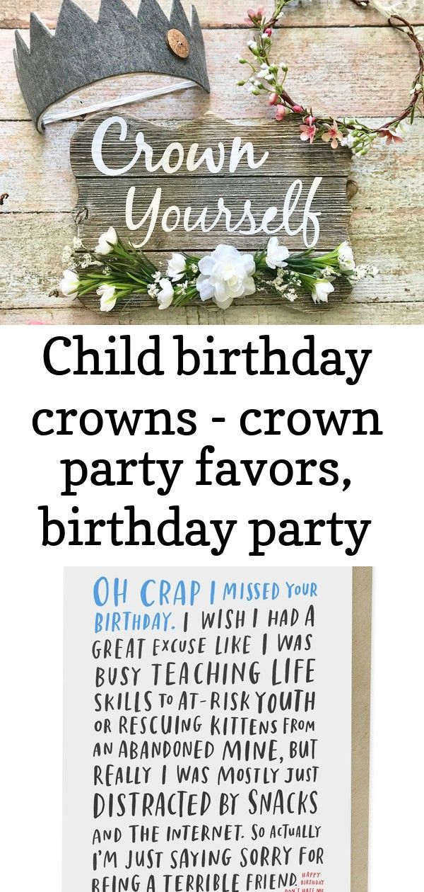 Child birthday crowns  crown party favors birthday party favors child birthday sign woodland b 1 Excited to share this item from my shop Child Birthday Crowns  Crown Part...