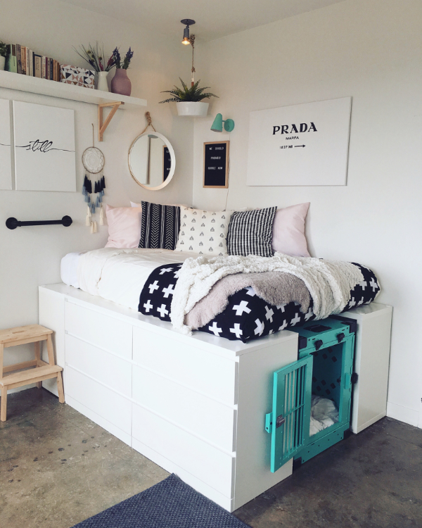 Stylish Storage Ideas For Small Bedrooms: Cool Dorm Rooms, Ikea Storage Bed, Ikea Storage