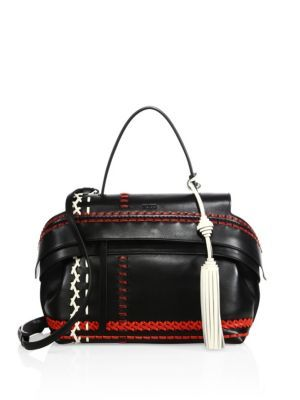 17f02ccf43f TOD'S Wave Small Multicolor Whipstitched Leather Satchel. #tods #bags  #shoulder bags #hand bags #leather #satchel #