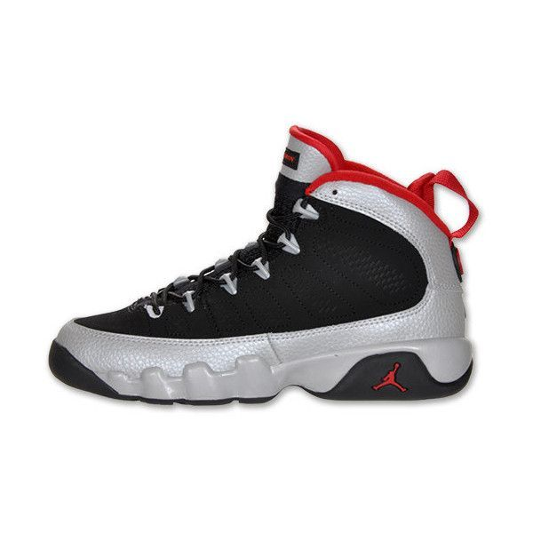 buy cheap 92ff9 cf745 Air Jordan Retro 9 Kids Basketball Shoe ( 110) ❤ liked on Polyvore  featuring shoes, jordans, sneakers e tennis shoes