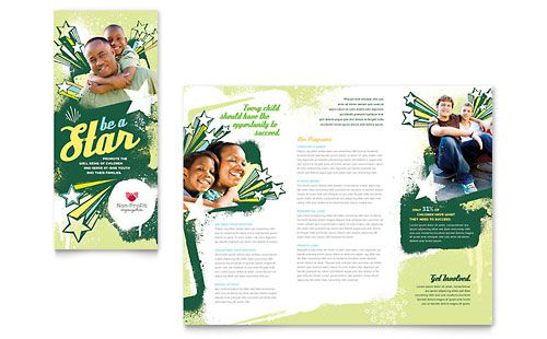 Child Advocates Tri Fold Brochure Template by @StockLayouts - free tri fold brochure templates microsoft word