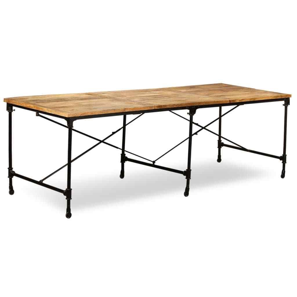 H4home Industrial Style Dining Table Solid Mango Wood Wooden