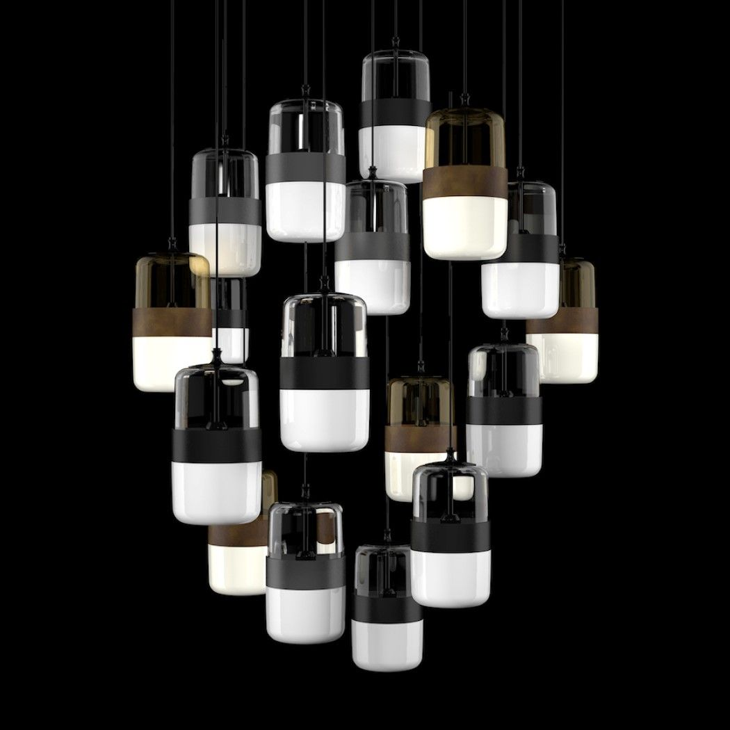 The Futura Lighting By Hangar Design And Vistosi Have An Interesting Aesthetic Off The First Glance I M Reminded Of Harma Pendant Lamp Creative Lighting Lamp