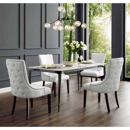 Annabelle Cream Linen Dining Chair, White Linen Dining Room Chairs