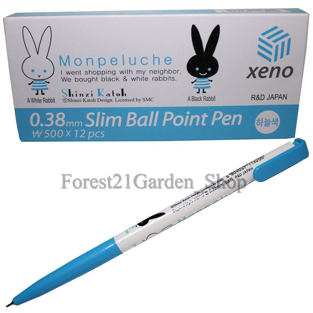 Xeno Shinzi Katoh Mon peluche 0.38 Mm Slim Ball Point Pen Box (Pack of 12