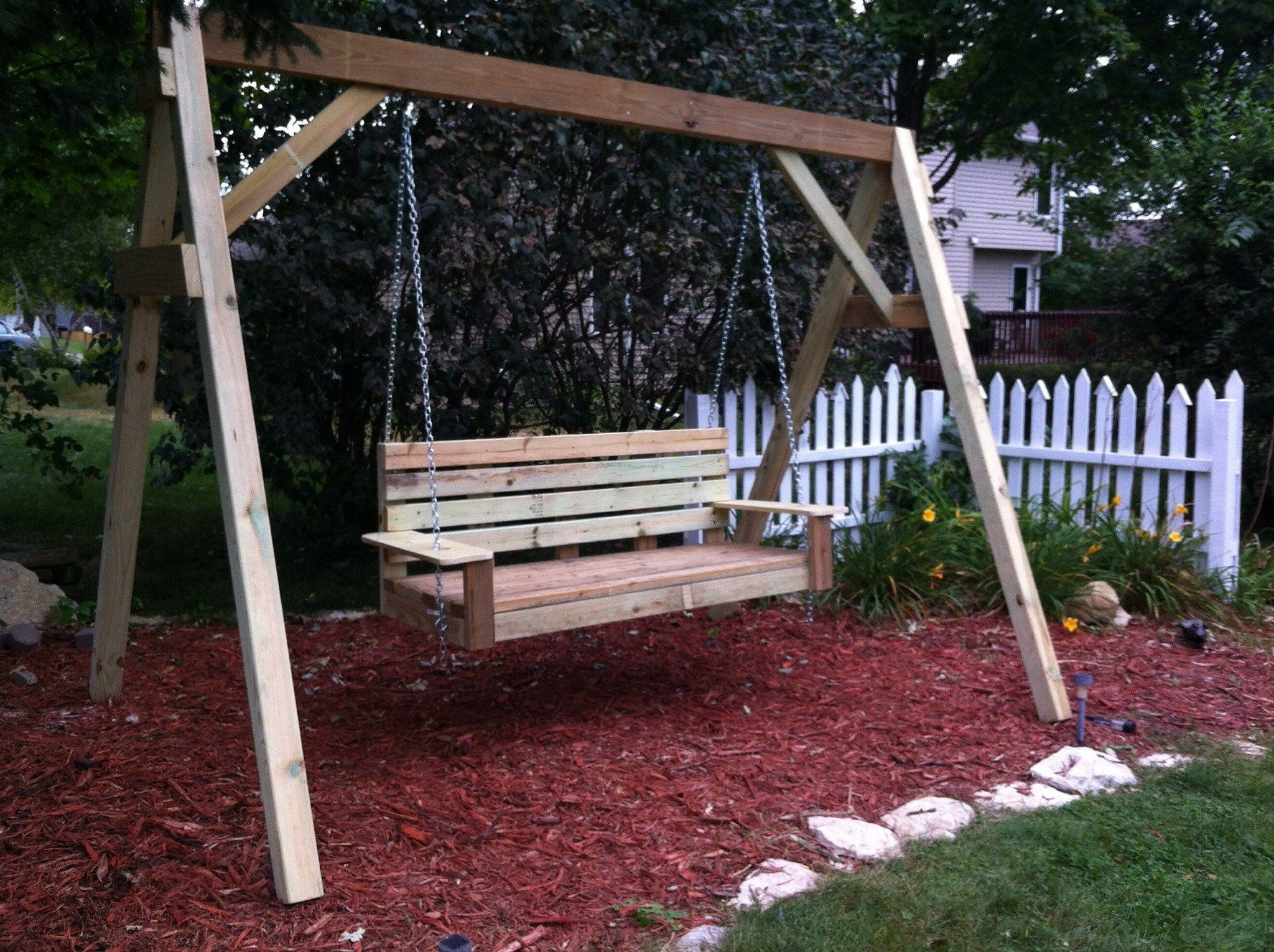 Build Diy How To Build A Frame Porch Swing Stand Pdf Plans Wooden
