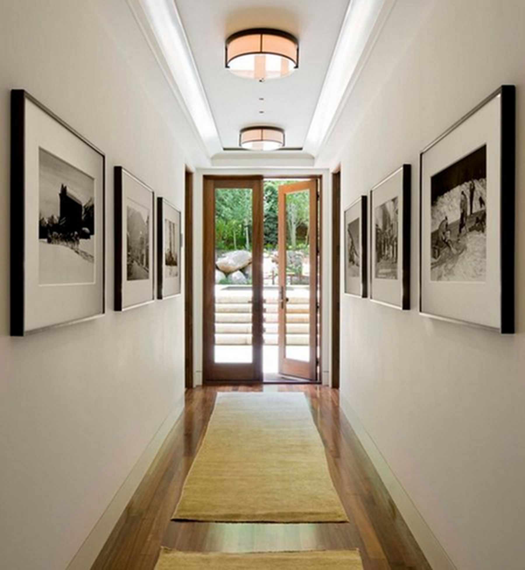 home hallway in 2020 Narrow hallway decorating, Small