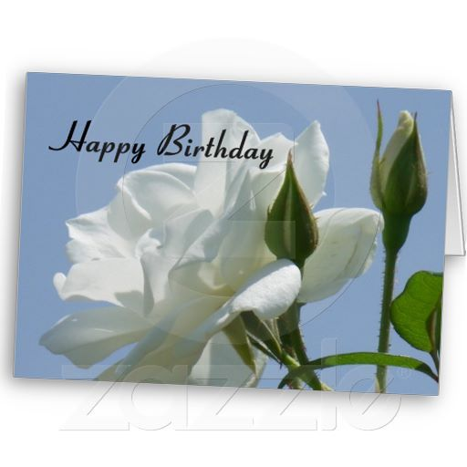 White Rose Happy Birthday Greeting Card Met Afbeeldingen