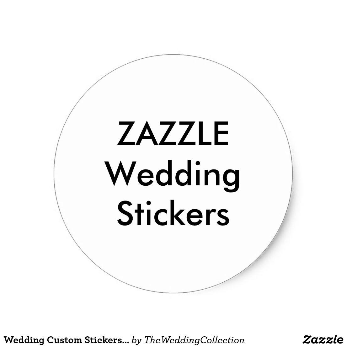 Wedding custom stickers 1 5 round matte 20 pk