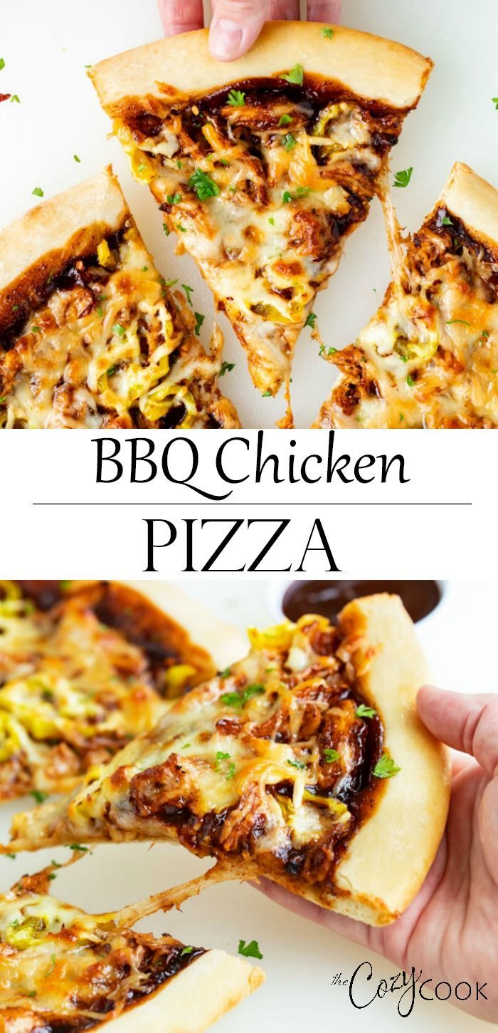 BBQ Chicken Pizza This BBQ Chicken Pizza Recipe is easy to throw together for an easy weeknight dinner or for watching the game with friends The topping combinations are...