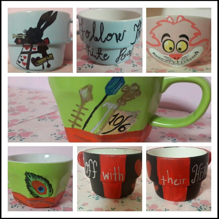 Sharpie Acrylic Paint On 1 00 Ceramic Mugs Baked At 375 For 45 Minutes Crafts Arts And Crafts Crafty